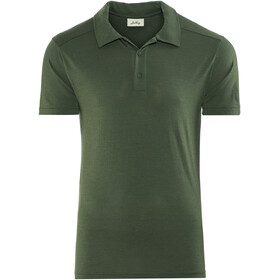 Lundhags M's Merino Light Polo Tee Dark Forest Green